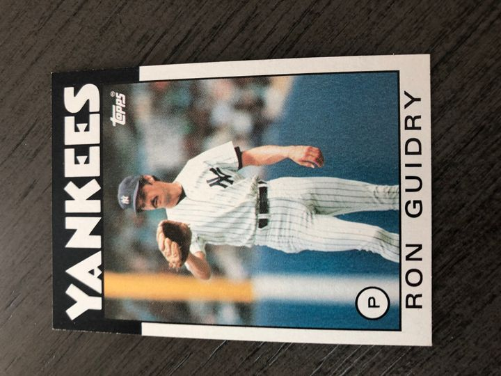 1986 TOPPS RON GUIDRY 610 Item Image